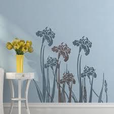 Wall Stencil Iris Reusable Stencil For Easy Wall Decor Better Than Decals J Boutique Stencils Royalwallskins