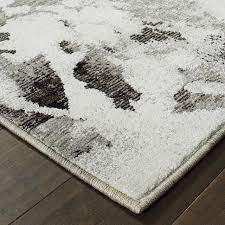 evolution charcoal abstract rug