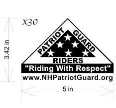 Pgr Vinyl Decal Triangle Nh Patriot Guard Riders