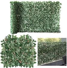 Amazon Com Petgrow Artificial Ivy With Flower For Fence Privacy Screen Faux Foliage Leaf Privacy Outdoor Garden Wall Artificial Hedge Boxwood 2 Roll Garden Outdoor