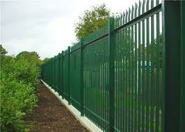 Hot Dip Galvanized Steel Palisade Fencing Panels D Pale 2 4m High