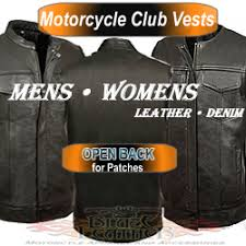 Motorcycle Club Vests Biker Club Cuts Blaze Leather