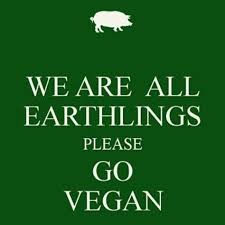 we are all earthlings please go vegan going vegan vegan