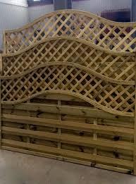European Garden Omega Lattice Fence Panel 6ft 5ft 4ft 3ft Model 33 Wooden Fence Lattice Fence Panels Fence Design