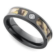 diamond wedding ring with camo inlay