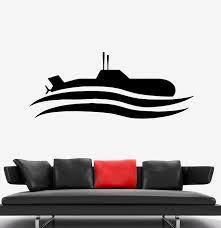 Wall Decal Submarine Sea Ship Military Vinyl Sticker Ed1776 Wallstickers4you