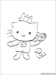 Hello Kitty Vrolijk Pasen Kleurplaat Gratis Kleurplaten