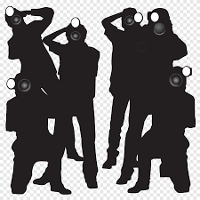 Silhouette Of Taking Hollywood Sign Party Paparazzi Wall Paparazzi S Monochrome Fictional Character Png Pngegg