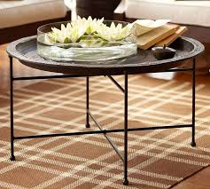 moroccan outdoor tray table pottery barn