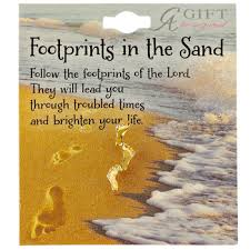 footprints in the sand lapel pin