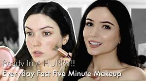 quick easy 5 minute makeup tutorial