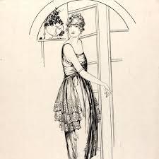Hilda Stewart- Fashion drawing & illustration: 1920s - Victoria and Albert  Museum | Fashion drawing, Fashion illustration vintage, Fashion art  illustration