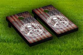 2nd Amendment Cornhole Board Wraps Laminated Sticker Set Skin Decal For Sale Online