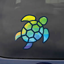 2 I Brake For Turtles Decal Stickers For Car Window Bumper Laptop Truck Jeep Rv