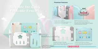 Coby Foldable Fence Extra Panel Activity Board