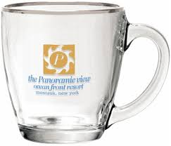 bistro coffee clear glass coffee mug 15 5oz