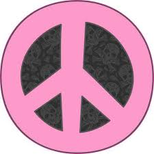 4in X 4in Pink And Black Peace Symbol Sticker Vinyl Cup Decal Bumper Decals Stickertalk
