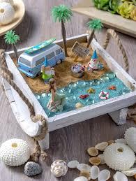 this beach fairy garden is a mini oasis