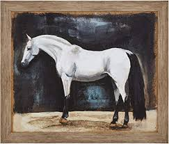 beam framed rustic appaloosa horse