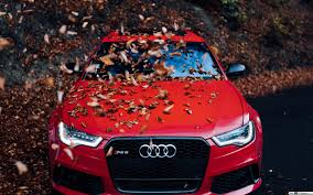 red audi hd wallpaper