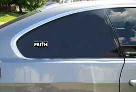 Faith Christian Cross Sticker U S Custom Stickers