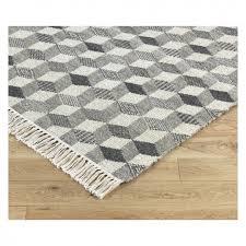 galloway large grey wool flatweave rug