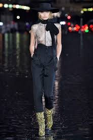 Aussie model Abbey Lee Kershaw topless at Saint Laurent show 2018