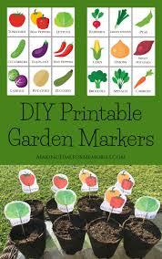 diy printable garden markers making