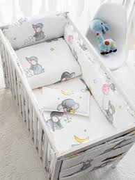 cute elephant printing baby bed per