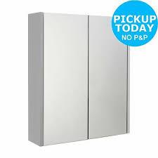 door mirrored bathroom cabinet white