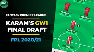 FPL TEAM SELECTION GAMEWEEK 1 | TEAM REVEAL | Fantasy Premier League Tips  2020/21 - YouTube
