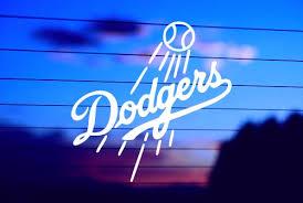 Dodgers Car Decal Sticker