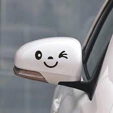 Funny Car Decal Smiley Face Car Mirror Sticker Funny Bumper Etsy In 2020 Funny Car Decals Car Mirror Sticker Car Humor