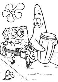 Spongebob En Patrick Kleurplaat Kleurplaatje Nl