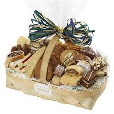 sympathy pastry cookie basket long
