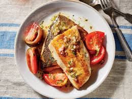 Seared Mackerel with Marinated Tomatoes ...