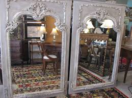 pair of reproduction beveled wood