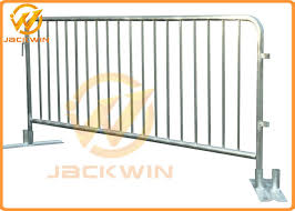 Heavy Duty 2m Flat Foot Galvanized Steel Temporary Barrier Fence For Crowd Control