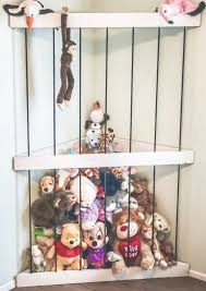 Floating Toy Storage A Handmade Floating Corner Storage Option For Your Stuffed Animal Collection Sick Of All Th In 2020 Storage Kids Room Animal Room Kid Toy Storage