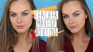 updated simple teacher makeup routine