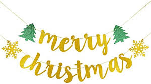 Amazon.com: Merry Christmas Banner Gold Glitter- Christmas Party  Decorations, Merry Friendsmas Decorations, Grinch Chrismtas Party  Decorations,Christmas Banner,Happy Holidays Decorations,New Years  Decorations: Toys & Games