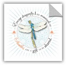 Artwall Dragonfly Smile Removable Wall Decal Wayfair