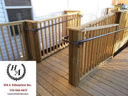 H & A Enterprises Inc. 770-560-4477 Atlanta GA Wood Ramps w/ ADA Handicap  Ramp Hand Rails, Stainless, Aluminum, and Steel, Wood Ramp Steel Handrails  Atlanta GA - H & A Enterprises Inc
