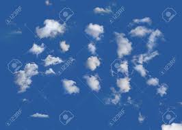 The Word Air Written In Clouds On A ...