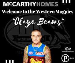 PLACE PLAYER UPDATE - CLAYE BEAMS SIGNS ON FOR 2019 — Sherwood Magpies  Australian Football Club