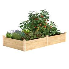 Greenes Fence 4 Ft X 8 Ft X 14 In Original Cedar Raised Garden Bed Rc12s28b The Home Depot