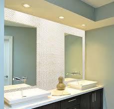 pearl tile bathroom mirror wall backsplash