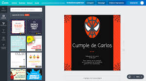 Crea Invitaciones De Spiderman Online Gratis Canva