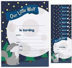 Amazon Com Wolf 1 Tarjeta De Invitacion De Cumpleanos Con Sobres Para Ninos Y Ninas 10 Unidades Toys Games