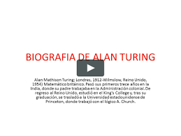 BIOGRAFIA DE ALAN TURING on Vimeo